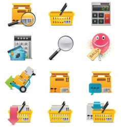vector ecommerce icon set vector image