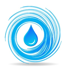 Water drop and waves vector
