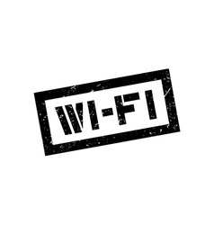 Wi-fi rubber stamp vector