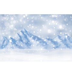 winter mountain vector image