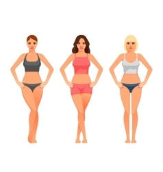 Young woman with healthy slim body vector