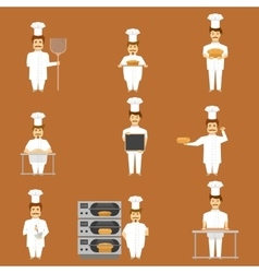 Baker set of characters vector