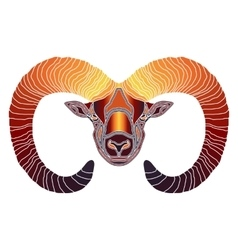 Bright ram zodiac aries sign vector