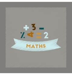 Flat shading style icon math lesson vector