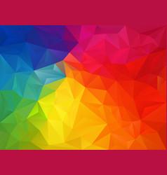 Rainbow spectrum polygon background vector
