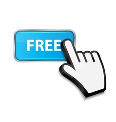 Mouse hand cursor on free button vector