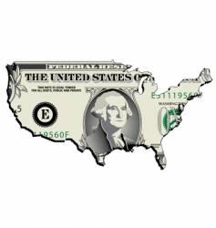 usa dollar vector image