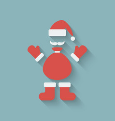 Santa claus design element vector