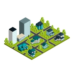 Real estate isometric vector