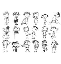 Women characters vector image