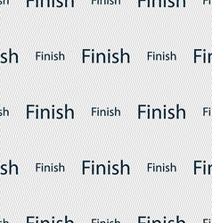 Finish sign icon power button seamless abstract vector