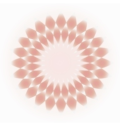 Pale pink-cream decorative circular ornament vector