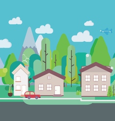 Flat design nature landscape vector