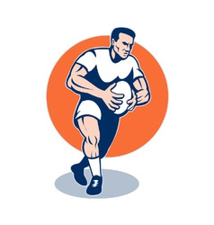 retro rugby player vector image