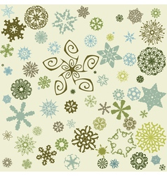 Decorative snowflake background vector