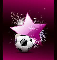 Soccer ball artistic background vector image