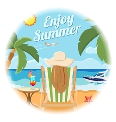 Vacation and summer card concept vector