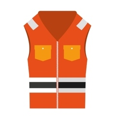 Jacket uniform security icon vector