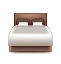 Big bed isolated on white vector image
