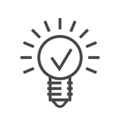 Bulb Line Icon vector image