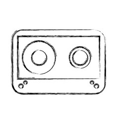 Cassette old isolated icon vector