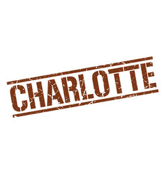 Charlotte brown square stamp vector
