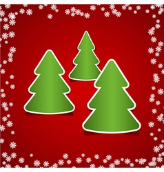 christmas tree red vector image