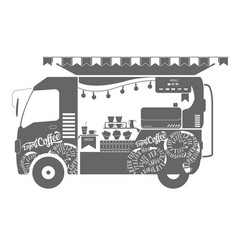 coffee truck vector image vector image