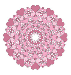 Colored round lovely mandala old pink vector