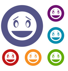 confused emoticons set vector image