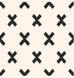 cross pattern x modern funky texture vector image vector image