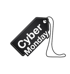 Cyber monday Cyber monday tag Cyber monday icon vector image