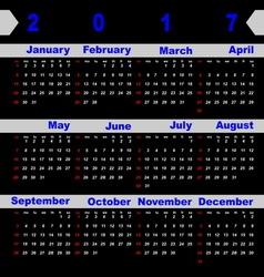 Design digit template of 2017 calendar vector image