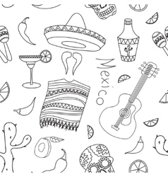 Doodle pattern mexico vector