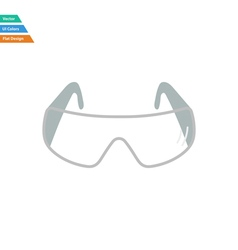 Flat design icon of chemistry protective eyewear vector