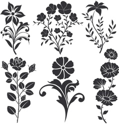 flowers decorative vector image vector image