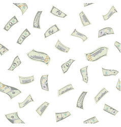 flying dollars seamless pattern vector image vector image