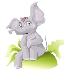 Funny african elephant with big ears vector