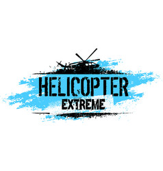 Helicopter extreme ride creative banner vector