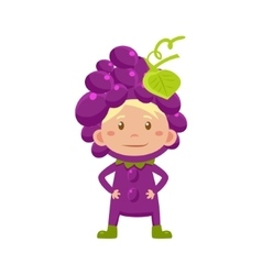 Kid In Grapes Costume vector image vector image