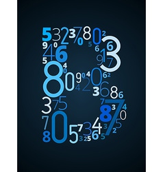 Letter b font from numbers vector