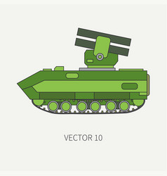line flat color icon armored reactive vector image