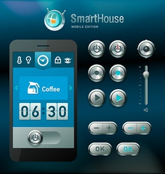 Mobile interface and elements vector