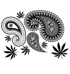 paisley cannabis vector image vector image