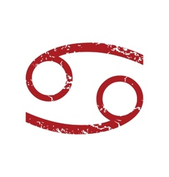 Red grunge Cancer logo vector image vector image