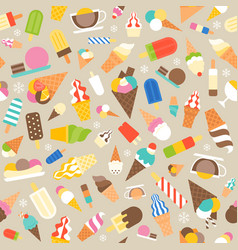 seamless pattern ice cream vector image vector image