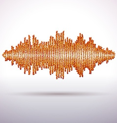Sound waveform made of chaotic balls vector image