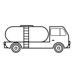 Tank truck icon outline style vector