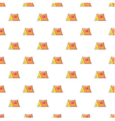 Tourist tent pattern seamless vector