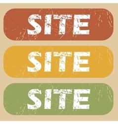 Vintage site stamp set vector